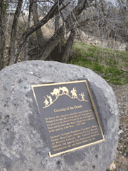 Old Spanish Trail Monument Marker at Grand Junction, CO